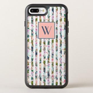 Capa Para iPhone 8 Plus/7 Plus OtterBox Symmetry Monograma bolinhas cor-de-rosa azuis & cor-de-rosa