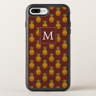 Capa Para iPhone 8 Plus/7 Plus OtterBox Symmetry Monograma | Borgonha & abacaxis do ouro