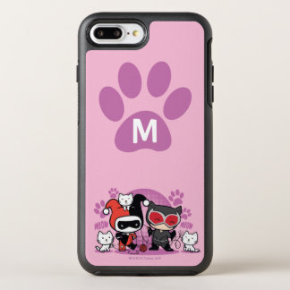 Capa Para iPhone 8 Plus/7 Plus OtterBox Symmetry Monograma Chibi Harley Quinn & mulher-gato com