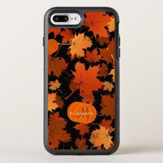 Capa Para iPhone 8 Plus/7 Plus OtterBox Symmetry Monograma conhecido das folhas de bordo e das