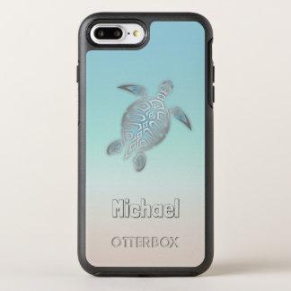 Capa Para iPhone 8 Plus/7 Plus OtterBox Symmetry Monograma de prata das tartarugas de mar