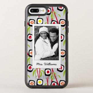 Capa Para iPhone 8 Plus/7 Plus OtterBox Symmetry Monograma do teste padrão | do design do sushi