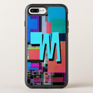 Capa Para iPhone 8 Plus/7 Plus OtterBox Symmetry Monograma geométrico colorido do azul de turquesa