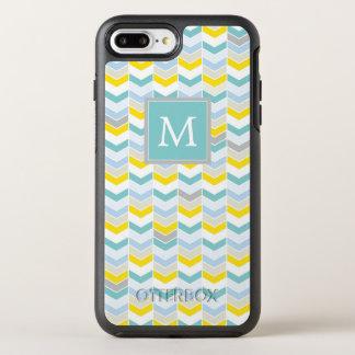 Capa Para iPhone 8 Plus/7 Plus OtterBox Symmetry Monograma Herringbone amarelo & azul de |