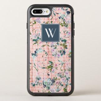 Capa Para iPhone 8 Plus/7 Plus OtterBox Symmetry Monograma rosas azuis & cor-de-rosa de |
