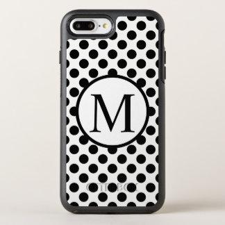 Capa Para iPhone 8 Plus/7 Plus OtterBox Symmetry Monograma simples com bolinhas pretas