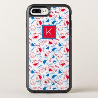 Capa Para iPhone 8 Plus/7 Plus OtterBox Symmetry Monograma vermelho & azul do teste padrão |