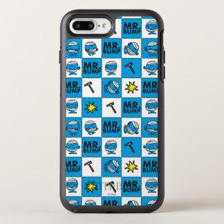 Capa Para iPhone 8 Plus/7 Plus OtterBox Symmetry Mosaico do Sr. Colisão | no teste padrão azul