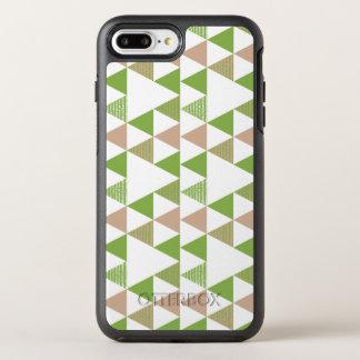 Capa Para iPhone 8 Plus/7 Plus OtterBox Symmetry Mosaico geométrico do triângulo verde das