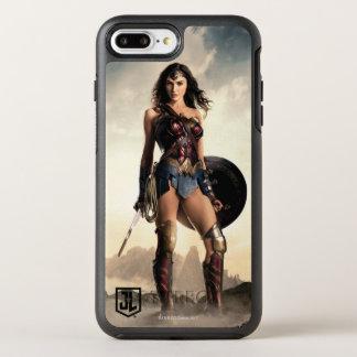 Capa Para iPhone 8 Plus/7 Plus OtterBox Symmetry Mulher maravilha da liga de justiça | no campo de