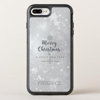 Capa Para iPhone 8 Plus/7 Plus OtterBox Symmetry Natal de prata elegante & capa de telefone do ano
