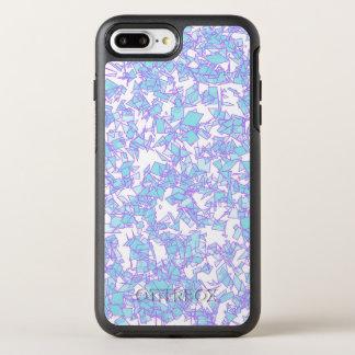 Capa Para iPhone 8 Plus/7 Plus OtterBox Symmetry Neve futurista cor-de-rosa azul do laser do mundo