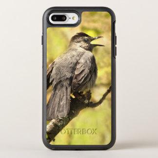 Capa Para iPhone 8 Plus/7 Plus OtterBox Symmetry O Catbird cinzento canta o caso positivo do iPhone