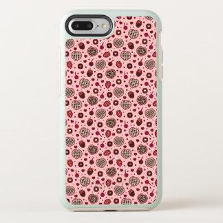 Capa Para iPhone 8 Plus/7 Plus OtterBox Symmetry O doce cor-de-rosa dos namorados trata a capa de