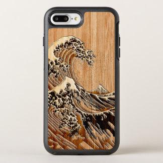 Capa Para iPhone 8 Plus/7 Plus OtterBox Symmetry O estilo de madeira de bambu do embutimento da