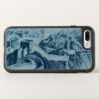 Capa Para iPhone 8 Plus/7 Plus OtterBox Symmetry O Grande Muralha no azul