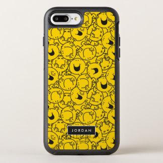 Capa Para iPhone 8 Plus/7 Plus OtterBox Symmetry O grupo do teste padrão amarelo | dos sorrisos