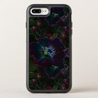 Capa Para iPhone 8 Plus/7 Plus OtterBox Symmetry O jardim de rosas elétrico de néon floresce o