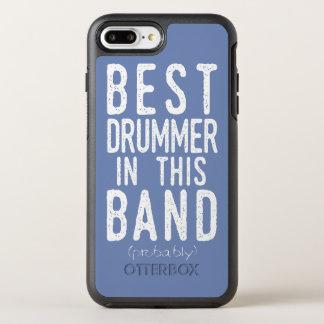 Capa Para iPhone 8 Plus/7 Plus OtterBox Symmetry O melhor baterista (provavelmente) (branco)