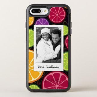 Capa Para iPhone 8 Plus/7 Plus OtterBox Symmetry O multi citrino colorido | adiciona sua foto