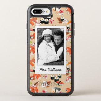 Capa Para iPhone 8 Plus/7 Plus OtterBox Symmetry O teste padrão alaranjado | do sushi adiciona sua