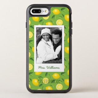 Capa Para iPhone 8 Plus/7 Plus OtterBox Symmetry O teste padrão amarelo brilhante | do limão