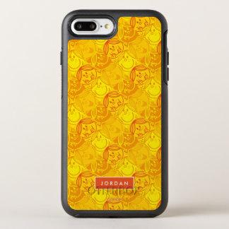 Capa Para iPhone 8 Plus/7 Plus OtterBox Symmetry O teste padrão amarelo ensolarado | adiciona seu