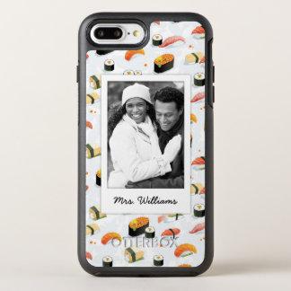 Capa Para iPhone 8 Plus/7 Plus OtterBox Symmetry O teste padrão japonês | do sushi da comida |