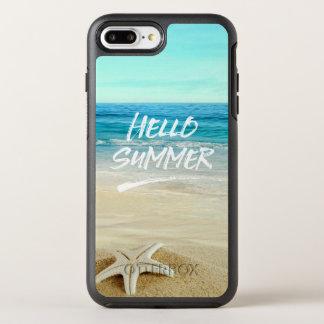 Capa Para iPhone 8 Plus/7 Plus OtterBox Symmetry Olá! praia da luz do sol da estrela do mar do