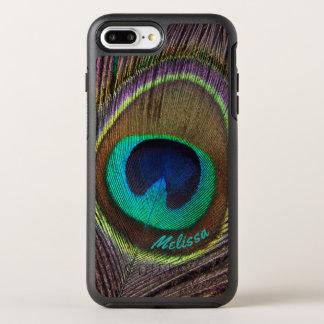 Capa Para iPhone 8 Plus/7 Plus OtterBox Symmetry Olho bonito da pena do pavão, seu nome