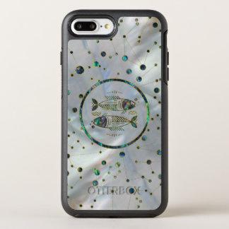 Capa Para iPhone 8 Plus/7 Plus OtterBox Symmetry Olmo do ouro do zodíaco dos peixes na constelação