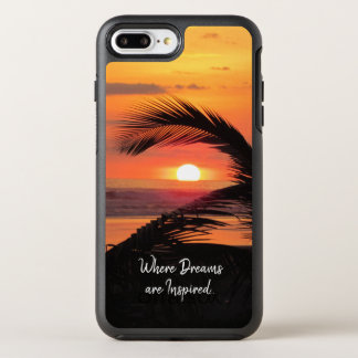 Capa Para iPhone 8 Plus/7 Plus OtterBox Symmetry Opinião tropical da praia do por do sol