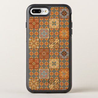 Capa Para iPhone 8 Plus/7 Plus OtterBox Symmetry Ornamento de talavera do mosaico do vintage