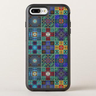 Capa Para iPhone 8 Plus/7 Plus OtterBox Symmetry Ornamento de talavera do mosaico do vintage