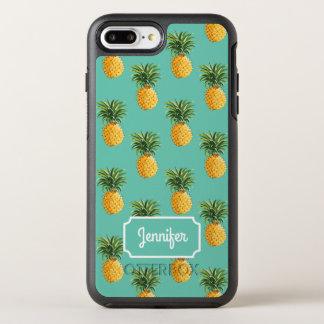 Capa Para iPhone 8 Plus/7 Plus OtterBox Symmetry Os abacaxis tropicais na cerceta | adicionam seu