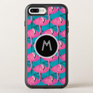 Capa Para iPhone 8 Plus/7 Plus OtterBox Symmetry Os flamingos de néon dois   adicionam sua inicial