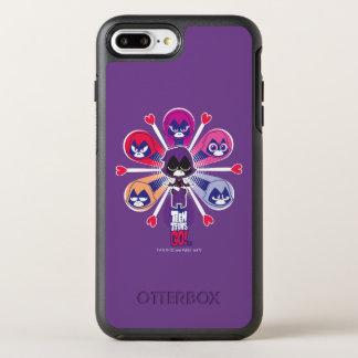 Capa Para iPhone 8 Plus/7 Plus OtterBox Symmetry Os titã adolescentes vão! O Emoticlones do corvo