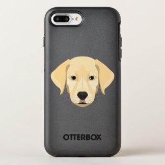 Capa Para iPhone 8 Plus/7 Plus OtterBox Symmetry Ouro Retriver do filhote de cachorro da ilustração