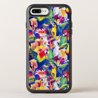 Capa Para iPhone 8 Plus/7 Plus OtterBox Symmetry Papagaios da aguarela