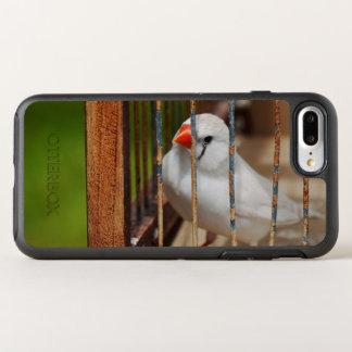Capa Para iPhone 8 Plus/7 Plus OtterBox Symmetry Passarinho de zebra branco na gaiola