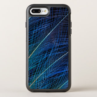 Capa Para iPhone 8 Plus/7 Plus OtterBox Symmetry Pássaro azul do abstrato da pena do paraíso