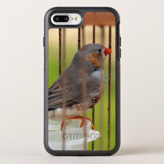 Capa Para iPhone 8 Plus/7 Plus OtterBox Symmetry Pássaro do passarinho de zebra na gaiola