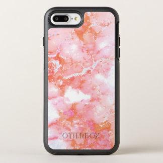 Capa Para iPhone 8 Plus/7 Plus OtterBox Symmetry Pedra de mármore nebulosa cor-de-rosa do pêssego