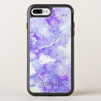 Capa Para iPhone 8 Plus/7 Plus OtterBox Symmetry Pedra de mármore nebulosa da lavanda roxa