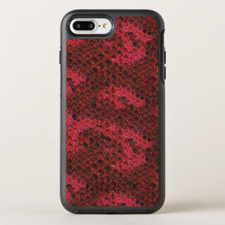 Capa Para iPhone 8 Plus/7 Plus OtterBox Symmetry Pele de cobra vermelha e preta