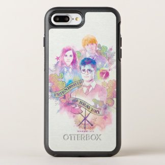 Capa Para iPhone 8 Plus/7 Plus OtterBox Symmetry Período   Harry, Hermione, & Ron Waterc de Harry