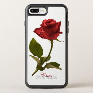 Capa Para iPhone 8 Plus/7 Plus OtterBox Symmetry Personalize: Fotografia floral da rosa vermelha