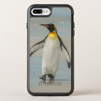 Capa Para iPhone 8 Plus/7 Plus OtterBox Symmetry Pinguim que anda na praia