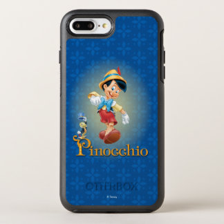 Capa Para iPhone 8 Plus/7 Plus OtterBox Symmetry Pinocchio com grilo de Jiminy
