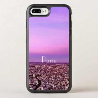 Capa Para iPhone 8 Plus/7 Plus OtterBox Symmetry Por do sol roxo e cor-de-rosa do destino de Paris